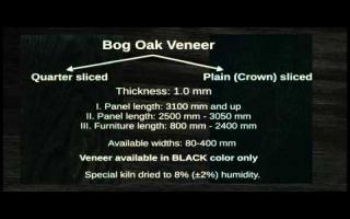 Grigo Bog Oak veneer & lamella